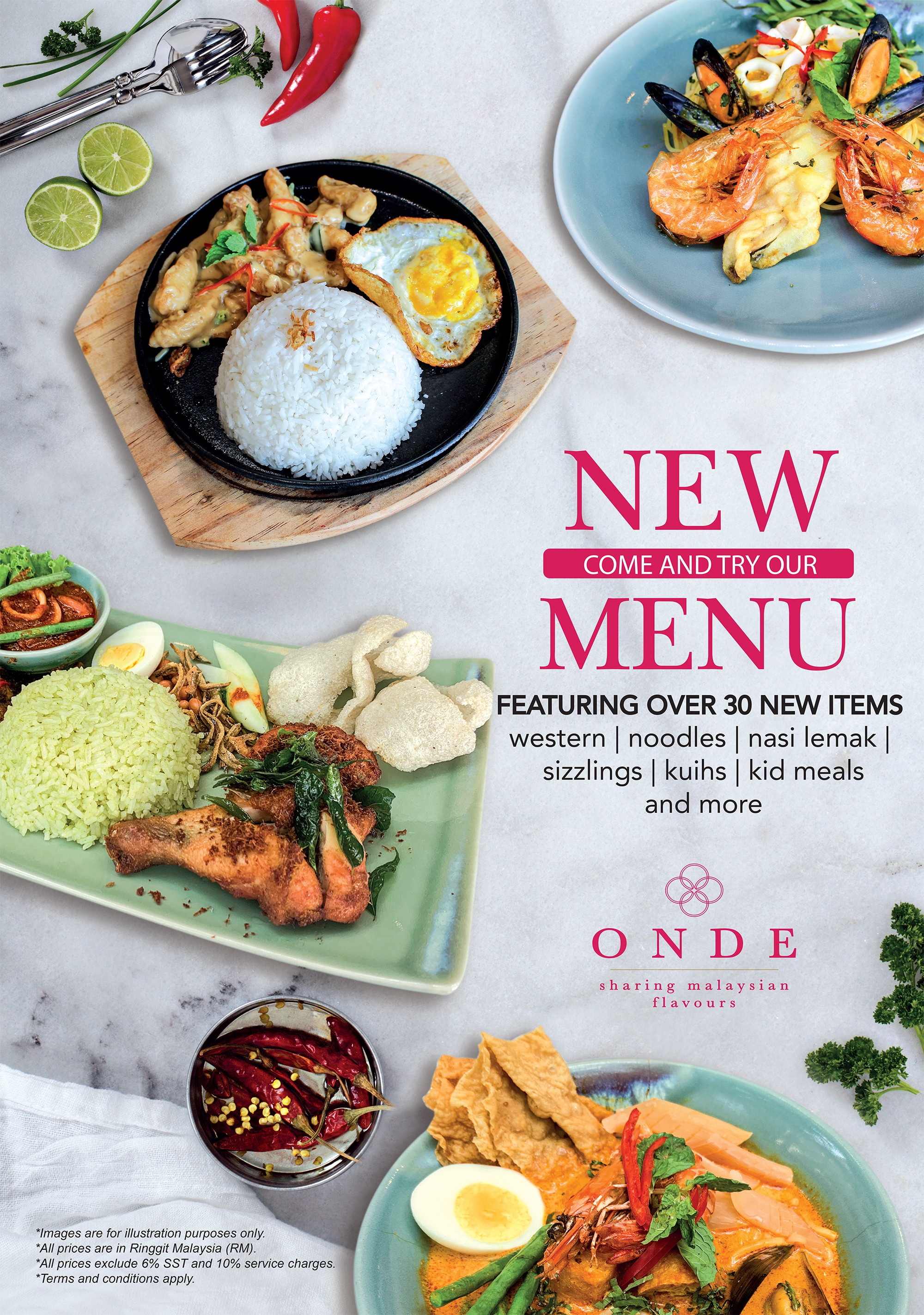 Onde New Menu 2019